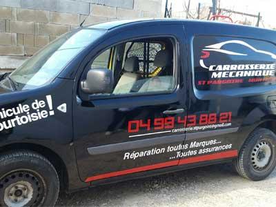 Marquage vehicules p zenas marquage vehicules m ze rp for Garage pret voiture