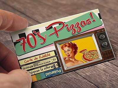 Carte De Visite Vintage Annee 70 Agence Pub Creative Publicite Impression Imprimeur Herault Languedoc Montpellier Pezenas Beziers Perpignan Occitanie
